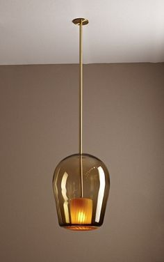 Molten pendant light by glass artist Jeremy Maxwell Wintrebert.