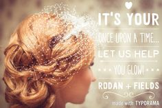 Are you ready for the BIG day? Make your fairy tale come true with great skin that GLOWS! Visit http//klanges.myrandf.com/ to learn more about Rodan + Fields products. Message me today!!