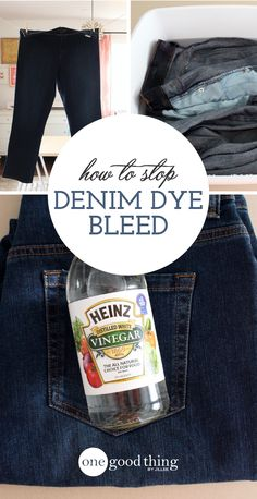 Bleeding denim dye can stain your clothes and reduce the lifespan of your jeans. Check out these simple tips to help eliminate dye bleed.