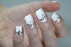 Bridal Metallic Nails nail art by furiousfiler