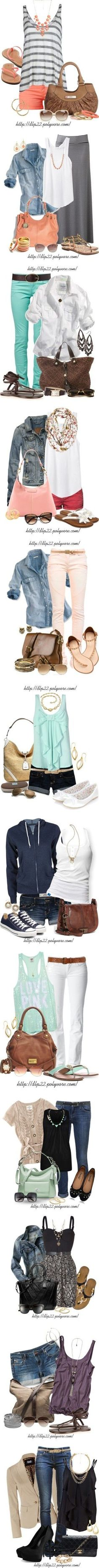 Lots of cute outfit ideas! Can these just appear in my closet now please!! Thanks!