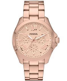 b09cc4f8a8a8 Fossil Women s Cecile Rose Gold-Tone Stainless Steel Bracelet Watch 40mm  AM4511 Jewelry   Watches - Watches - Macy s