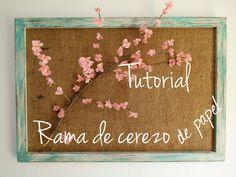 Decoupage, transfer y otras técnicas. Restauración de muebles. Tutoriales DIY y craft ideas.: Rama de cerezo en flor con papel de seda. Tutorial