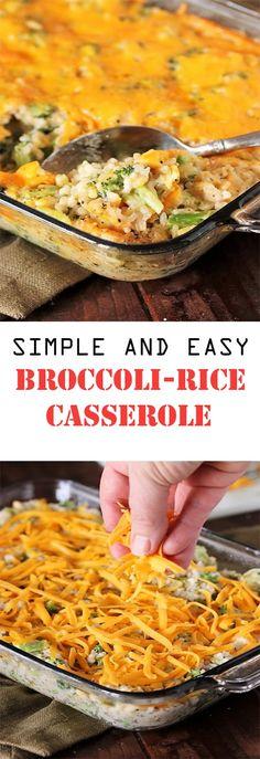 Broccoli-Rice Casserole Broccoli-Rice Casserole ìngredìents 3 c. cooked rìce (about 1 c. Broccoli Cheese Rice Casserole, Broccoli And Cheese, Cheddar Broccoli Rice, Spinach Dip, Broccoli Recipes, Vegetable Recipes, How To Make Broccoli, Quiche, Crockpot