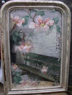 MOOD- This mirror would definitely create a mood in a room. I have always wanted one of these. Mirror Artwork, Mirror Painting, Old Mirrors, Vintage Mirrors, Vintage Floral Wallpapers, Distressed Mirror, Diy Mirror, Sunburst Mirror, Mirror Ideas