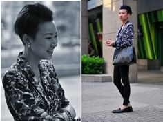 Esther Quek, Singapore  More street style photos from South East Asia at http://style-anywhere.com