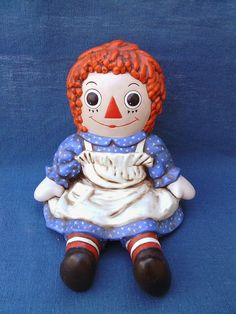 Hey, I found this really awesome Etsy listing at https://www.etsy.com/listing/167293569/vintage-1974-ceramic-raggedy-ann-by
