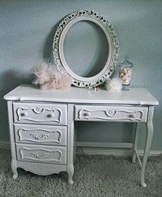 French Provincial Desk/Vanity. $350.00, via Etsy.