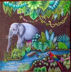 Magical Jungle. First Double Page Spread. – La Artistino – Peta Hewitt