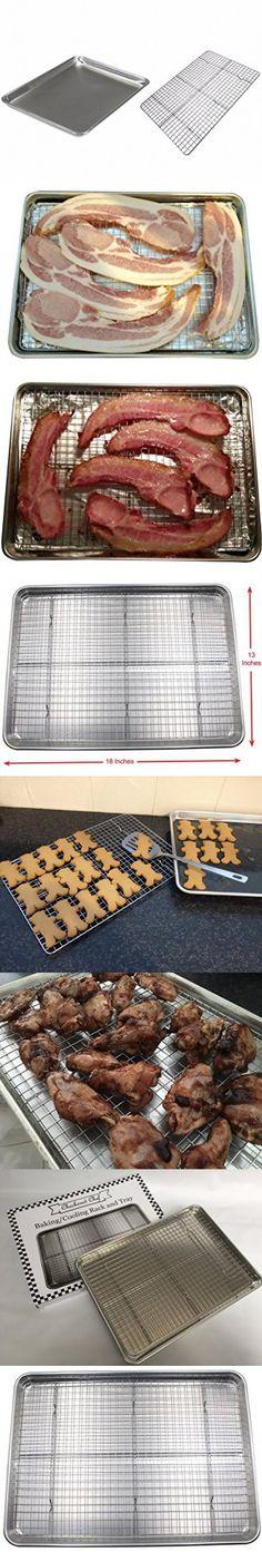 Checkered Chef Baking Sheet and Rack Set Aluminum Cookie Sheet//Half Sheet P...