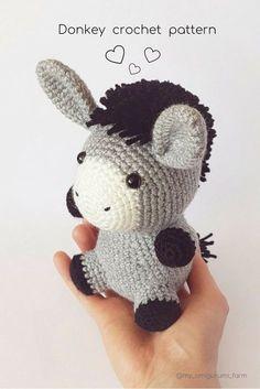Cute crochet animals, amigurumi patterns #amigurumi #crochet #pattern #cuteanimals #etsy #pdfpattern #crochetpattern #amigurumipattern #häkeln #ganchillo #kroşe #crochê #crochetideas #crochetaddict #crochetlove #easycrochet #crochetdonkey #amigurumidonkey #donkey #donkeypattern