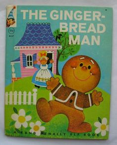 The Gingerbread Man, Vintage Rand McNally Elf Book, illustrated by Anne Sellers Leaf, 1965 on Etsy, $6.95