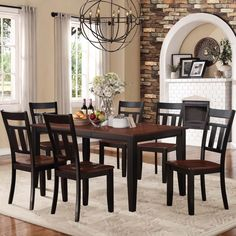 TRIBECCA HOME Eli Rustic Black Cherry 7-piece Mission Extending Dining Set - Overstock Shopping - Big Discounts on Tribecca Home Dining Sets