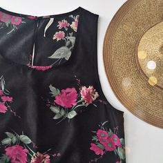 """Free People floral mini dress Cute black floral mini dress from Free People.  Excellent condition.  100% polyester.  Fits TTS. 31"""" from shoulder to hem, bust: 17.5"""".   No trades. Reasonable offers welcome Note: 20% off bundles of 2+ items in my closet! Free People Dresses Mini"""