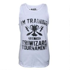 Harry Potter Triwizard Adult White Tank Top | @giftryapp