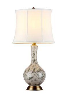 陶瓷台灯 陶瓷 细裂纹汝瓷 天球瓶 Φ400*H730mm