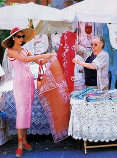 awesome Timeless| Christy Turlington para Vogue US Dezembro 1992 por Arthur Elgort  [Editorial]