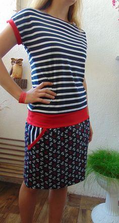 šaty námořník s kotvičkama II   Zboží prodejce Pa-Milada 44e5c7d9da