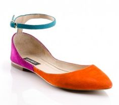 color block flats from shoemint