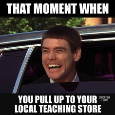 We geek out when we approach any teaching store.