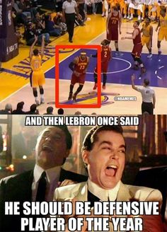 LeBron James' Defensive Ways! #Cavs - http://nbafunnymeme.com/nba-memes/lebron-james-defensive-ways-cavs