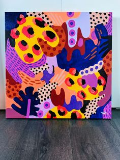 Blue Abstract Painting, Painting Art, Paintings, Arte Pop, Art Inspo, Art Decor, Pop Art, Art Projects, Illustration Art