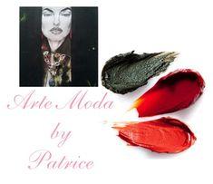 """""""#39 Artistic creation : modello Jane, bracciale o girocollo realizzato a mano e disegno realizzato da my sister"""" by patriceartemoda ❤ liked on Polyvore featuring art"""