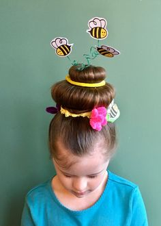 Crazy hair day hairstyle, literal beehive