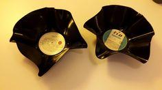 Coole Schalen aus alten Schallplatten. Total easy im Backofen gemacht ☺