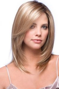 Top Quality Silky Straight Medium Remy Human Hair Wig