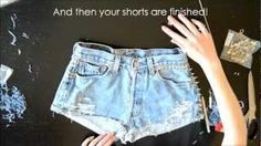 Going to make these for K.  HOW TO: Make the perfect denim shorts with studs and spikes, via YouTube.