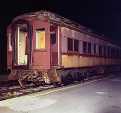 An old Pullman heavyweight car is seen at night spotted along an outer station platform track at Union Station in Jacksonville, Florida, mid 1970's | by alcomike43