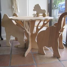 TABLE AND FOUR ANIMAL CHAIRS- sale pricing furniture set by Paloma's Nest | Paloma's Nest