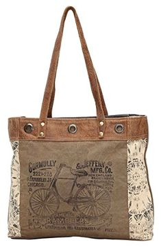 New Myra Bags Bicycle Upcycled Canvas Tote Bag Tan, Khaki, Brown, One_Size online shopping - Annetrendyfashion Leather Gloves, Leather Purses, Leather Bags, Camo Purse, Popular Handbags, Diy Couture, Boho Bags, Tote Handbags, Canvas Handbags
