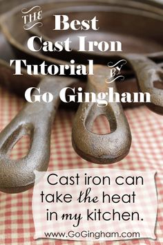 BEST CAST IRON TUTORIAL – it's my everyday cookware and if properly taken care of, your pans will last indefinitely!