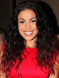 #JordinSparks' sable curls get edgy with a red gradient. #ombre http://news.instyle.com/photo-gallery/?postgallery=130026#