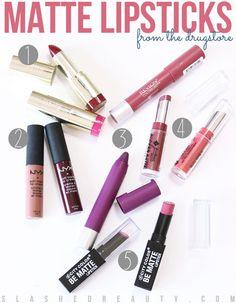 Drugstore Matte Lipsticks
