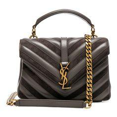 d49980f154 Saint Laurent Medium Leather   Suede Patchwork Monogramme College Bag  ( 1