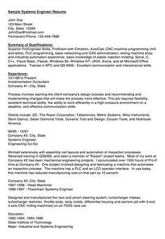 Acquisition Logistics Engineer Resume Resume Sample Pinterest
