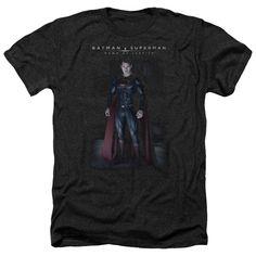 Adult Batman Vs Superman/Stand Tall Heathered Short Sleeve