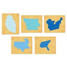 USA Puzzle Set - 5 Dies - XL - Each state cuts out separately