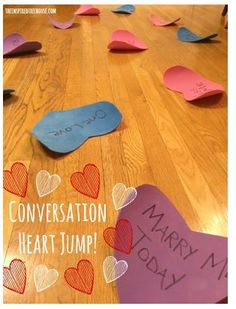 Pediatric Therapy Activity of Week: Conversation Heart Jump Game- pinned by @PediaStaff – Please Visit  ht.ly/63sNt for all our pediatric therapy pins