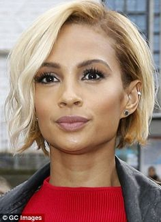 Blonde bombshell: It was certainly a new look...