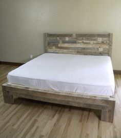 platform bed platform beds bed frame reclaimed wood rustic furniture bedroom decor bedroom furniture home decor wood bed frame