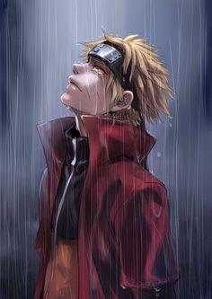 Naruto (Toad Sage in rain). My absolute favorite Naruto illustration. Itachi, Gaara, Kurama Naruto, Naruto Shippuden Anime, Hinata Hyuga, Kakashi Hatake, Anime Naruto, Manga Anime, Naruto Sad