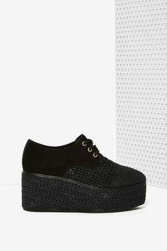 Jeffrey Campbell Curran Wicker Platform Shoe