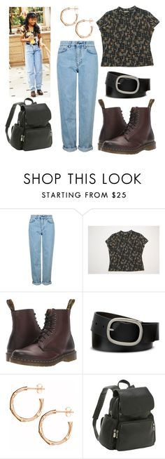 """""""Ashley Banks"""" by theblockvintage ❤ liked on Polyvore featuring Topshop, Dr. Martens, Mixit, Dinny Hall and Le Donne"""