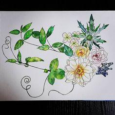 쌤이 굿잡이랬다😆😆😆 진짜겠지🤔 . . . . . #수채화 #보타니컬아트 #취미미술 #art #그림그리기 #펜드로잉 #드로잉 #sketch #pendrawing #botanic #botanicalart #watercolor #artstudio #강남역 #신논현  #ground37c #flowers #flora #일상 #그림스타그램 #artstagram