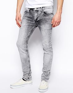 Religion Noize Skinny Jeans in Ice Grey