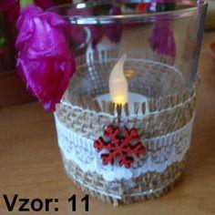 Sklenený svietnik Jarko - Sviečka - S čajovou sviečkou LED (plus 1€), Vzor - Vzor 11